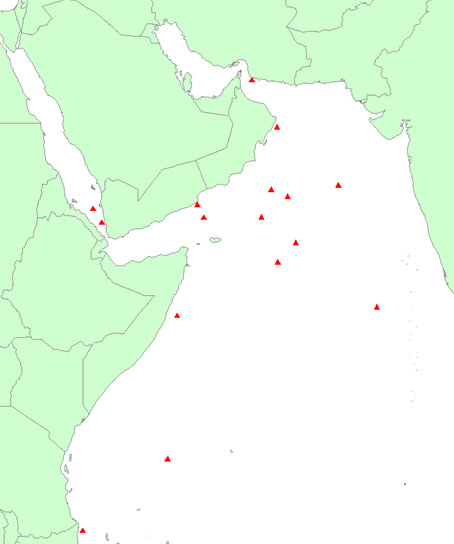 Near Real Time Piracy map in the Indian Ocean